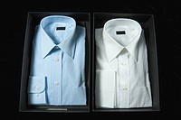 Two men´s dress shirts in boxes