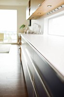 Close up of counter in modern kitchen
