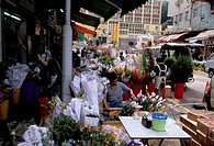Flower market, Mong Kok, Kowloon, Hong Kong, China, Asia