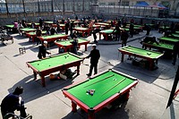 Chinese snooker in Xining,Qinghai,China
