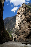 Tiger Leaping Gorge pinyin: Hutiào Xiá is a canyon on the Yangtze River - locally called the Golden Sands River, located 60 km north of Lijiang City, ...
