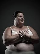 Woman wearing a brassiere