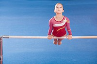 Gymnast on unparallel bars