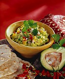 Kaskay tondi avocado and sweetcorn dip, India