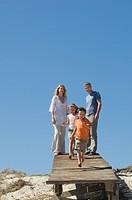 Family at the coast