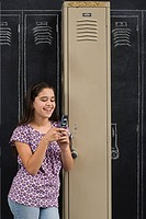 A girl using cell phone