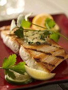 Grilled Sea Bass Fillet with Lime