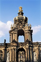 Crown Gate, Zwinger, Dresden, Saxony, Germany, Europe