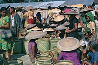People at Toraja market, Rangepad, island of Sulawesi, Indonesia, Southeast Asia, Asia