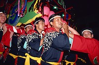 Mikoshi portable shrine festival, Asahikawa City, Japan, Asia