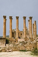 Artemis temple, Jerash, Jordan, Middle East