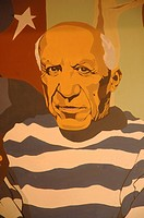 The catalan painter: Pablo Picasso . Barcelona , Catalonia , Spain , Europe
