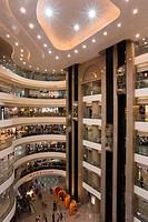 Interior of Times Square shopping mall, Wan Chai, Causeway Bay, Hong Kong, China, Asia