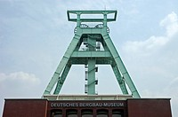 Shaft tower, German mining museum Bochum, Ruhr area, NRW, Germany |