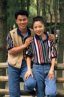 Korean couple, Cheju_Do Island, Korea, Asia