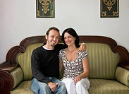 Portrait of a man and woman smiling