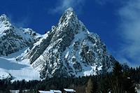 Dramatic peak at Brunni´, near Zurich, Switzerland, Europe