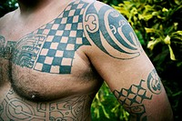 Tattoos at the Marquesas islands, French Polynesia