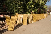 Crackers drying in the sun, Luang Prabang, Laos, Indochina, Southeast Asia, Asia