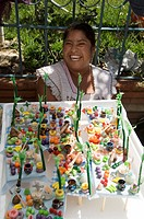 Day of the Dead sweets, in the market, Zaachila, Oaxaca, Mexico, North America