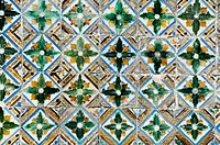 Azulejos tiles in the Mudejar style, Casa de Pilatos, Santa Cruz district, Seville, Andalusia, Spain, Europe