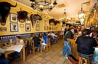Tapas bar and restaurant in the El Arenal area near the bull ring, Seville, Andalusia, Spain, Europe