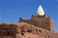 Exterior of the tomb of Marabout Sidi Brahim, Draa valley, Morocco, North Africa, Africa