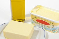 Olive oil butter margarine
