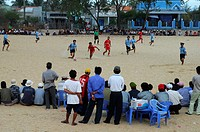 Soccer match in Mui Ne