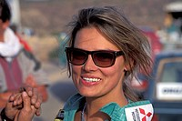 Stefanie Tuecking Tücking 1993 at rallye Munich-Marrakesch