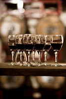Close_up of wine glasses