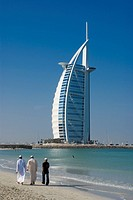 Burj al Arab beach, Dubai, United Arab Emirates, Middle East