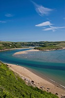Avon estuary, Bigbury on Sea, South Hams, Devon, England, United Kingdom, Europe