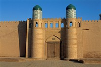 Gate of the Kunya Ark, Khiva, Uzbekistan, Central Asia, Asia