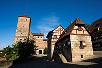 Germany, Bavaria, Nuremberg, Kaiserberg Castle