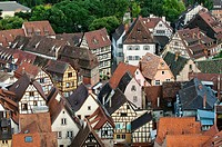 Pictoresque Old Town of Colmar, medieval and baroque frame houses, Alsace, France
