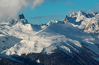 From La Plagne, Beaufortain, Pierra Menta, Savoie, Alpes, Alps (thumbnail)