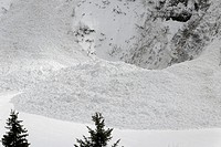 Avalanche, Flaine, Haute-Savoie, Alpes, Alps (thumbnail)