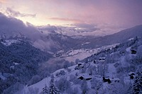 Valley of Manigod, Haute-Savoie, Alpes, Alps (thumbnail)
