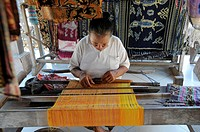 Weaving in traditional way, Bali, Indonesia
