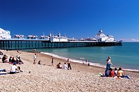 The beach, Eastbourne, East Sussex, England, United Kingdom, Europe