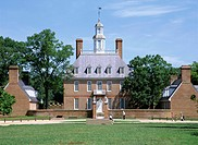 Exterior of Governor´s Palace, colonial architecture, Williamsburg, Virginia, United States of America USA, North America