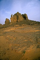The Tahagaart stone cathedrals in the south of the Hoggar algerian desert