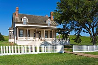 Custer House in Fort Lincoln State Park, Mandan, North Dakota, United States of America, North America