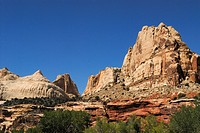 Rock formations in the Capitol Reef National Park Southwest USA Utah