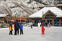 Ice Rink, Aspen, Rocky Mountains, Colorado, United States of America, North America