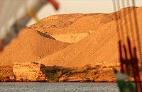 Felucca on the Nile around Edfou South Egypt
