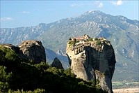 Sightseeing on Saint_Nicolas monastery and beyond on the mountains Meteores Greece