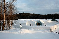The ice hotel of Sainte_Catherine Quebec