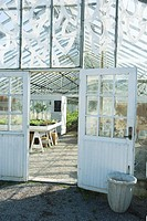 Greenhouse, view of interior through door